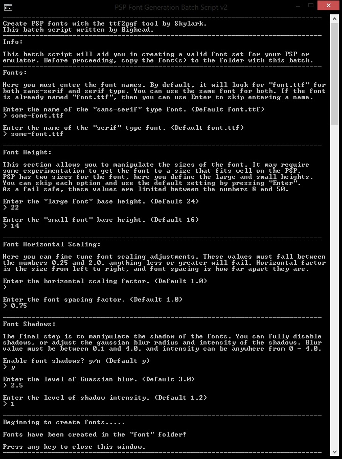 Psp Font Auto Generate From Ttf